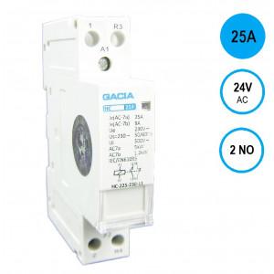 GACIA HC-2520a Inst.relais 25A/2NO/24VAC
