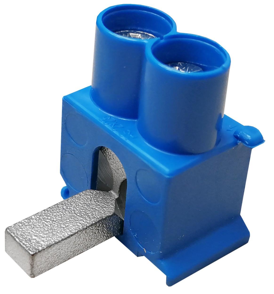 SEP DT2-25B tweevoudige aansluitklem 2x25mm2, blauw