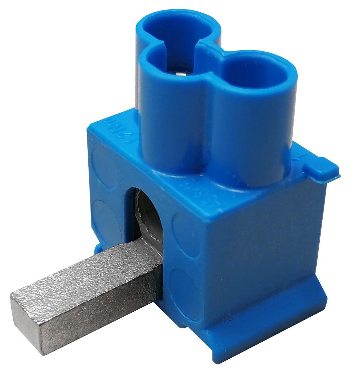 SEP DT3-16B drievoudige aansluitklem 3x16mm2, blauw