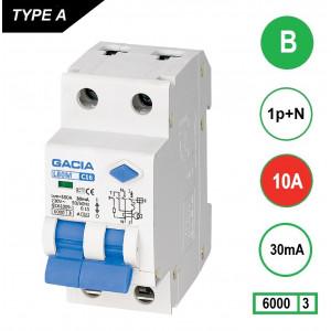 GACIA L80M aardlekautomaat 1p+n B10 30mA