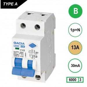 GACIA L80M aardlekautomaat 1p+n B13 30mA