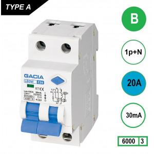 GACIA L80M aardlekautomaat 1p+n B20 30mA