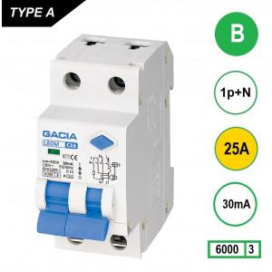 GACIA L80M aardlekautomaat 1p+n B25 30mA
