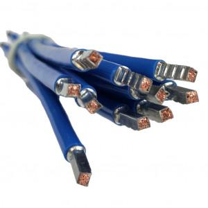 SEP bedrading 10mm2, l=250mm, blauw, 105gr
