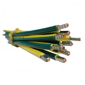 SEP bedrading 10mm2, l=250mm, geel/groen, 105gr