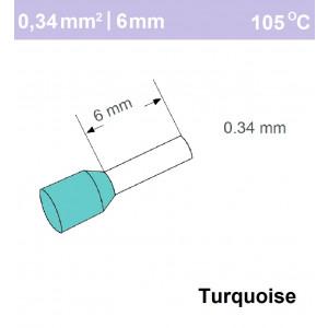 Schotman Elektro - SEP adereindhuls enkelvoudig 0,34mm2 lengte 6mm geisoleerd
