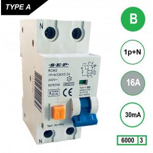 Schotman Elektro - SEP RCM2 aardlekautomaat 1p+n B 16A 30mA