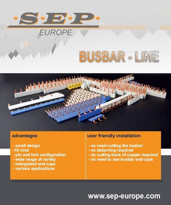 SEP BUSBAR / KAMRAILS line nieuw in assortiment